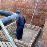 Construcción de arqueta mantenimiento RLR
